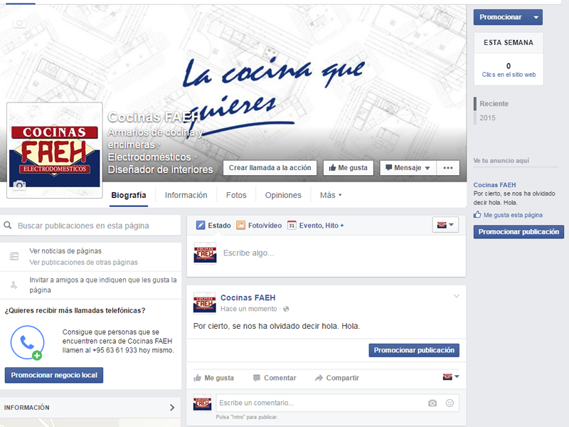 Por fin estamos en Facebook